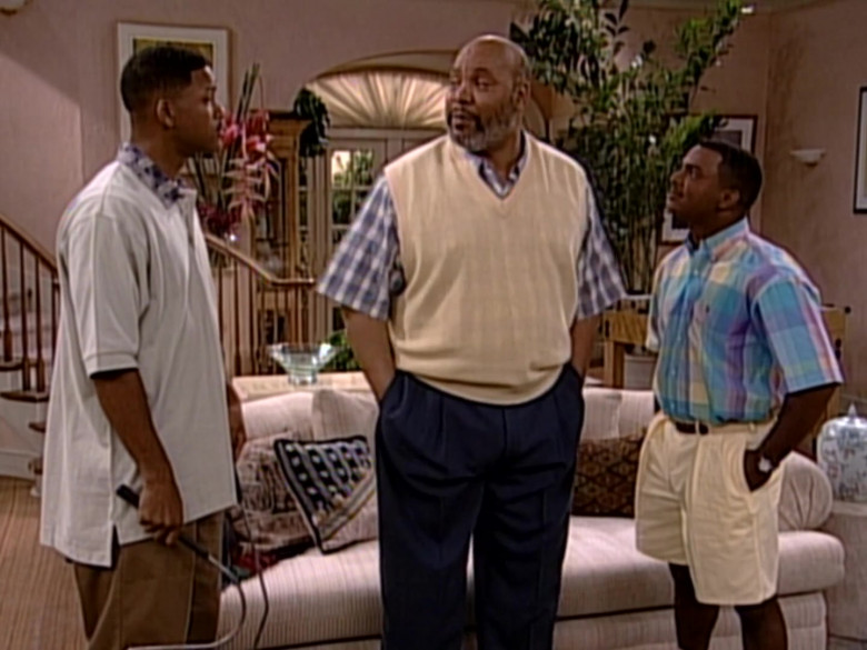 Ralph Lauren Short Sleeve Shirt and Shorts Outfit of Alfonso Ribeiro as Carlton Banks in The Fresh Prince of Bel-Air (2)