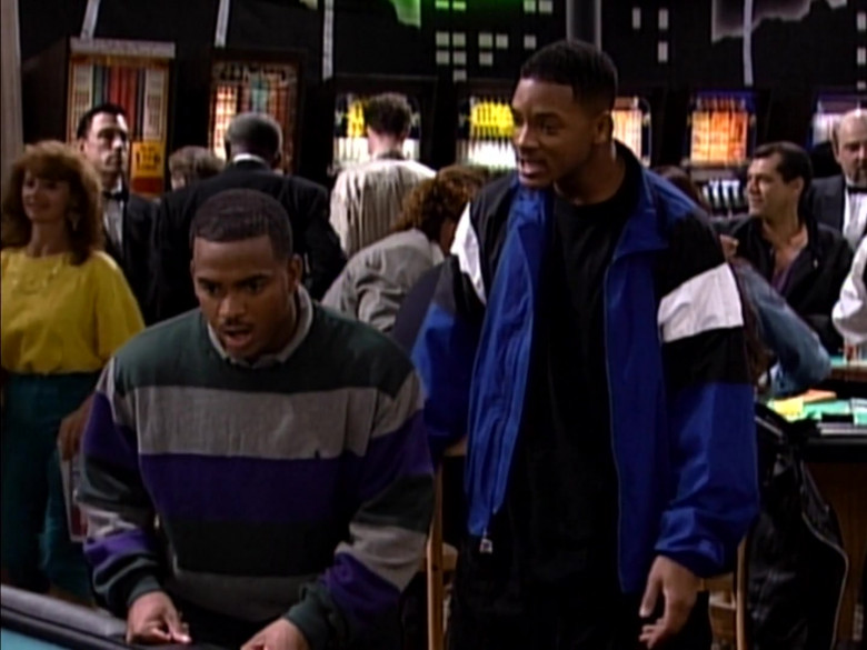Ralph Lauren Sweater Fashion Outfit Worn by Alfonso Ribeiro in The Fresh Prince of Bel-Air S06E08
