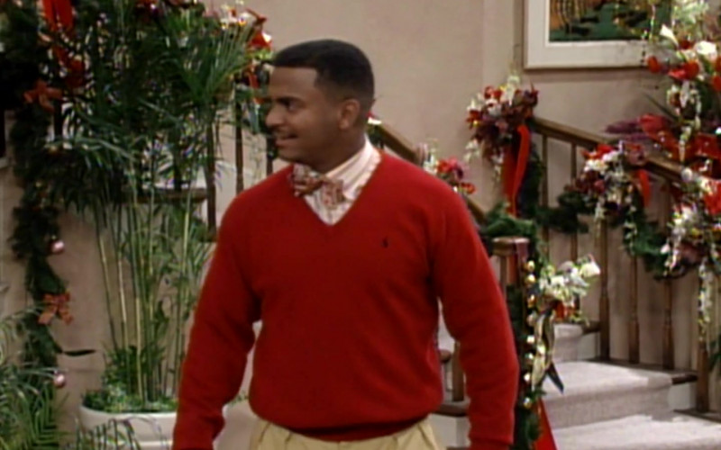 Ralph Lauren V Neck Sweater of Alfonso Ribeiro as Carlton in The Fresh Prince of Bel-Air S04E13