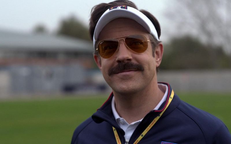 Ray-Ban P Aviator Frame Sunglasses Worn by Jason Sudeikis in Ted Lasso S01E04