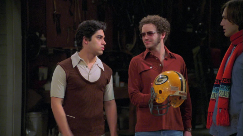 Riddell American Football Yellow Helmet Held by Danny Masterson as Steven Hyde in That '70s Show