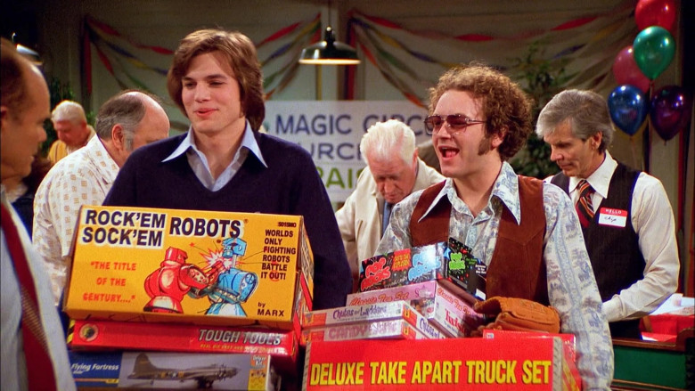 Rock'em Sock'em Robots Game Held by Ashton Kutcher as Michael