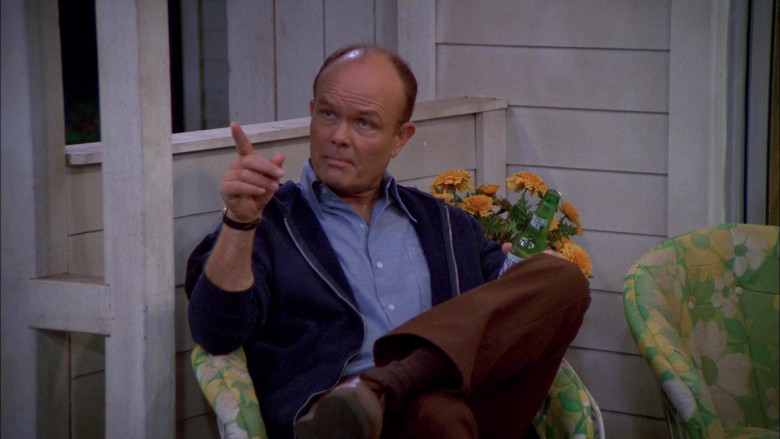 Rolling Rock Beer Bottle Held by Kurtwood Smith as Red Forman in That '70s Show S02E09