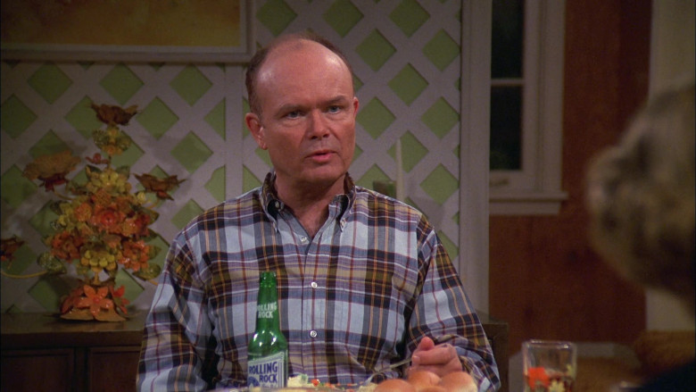 Rolling Rock Beer Bottle of Kurtwood Smith as Red Forman in That '70s Show S02E11