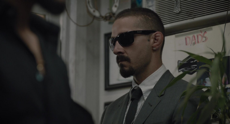 Shia LaBeouf as Creeper Wears Locs Sunglasses in The Tax Collector Movie (1)