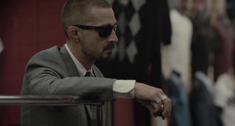 Shia LaBeouf as Creeper Wears Locs Sunglasses in The Tax Collector Movie (5)