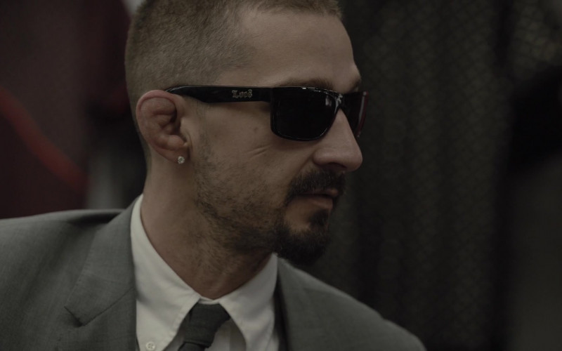 Shia LaBeouf as Creeper Wears Locs Sunglasses in The Tax Collector Movie (6)