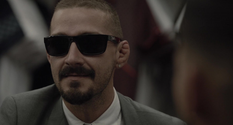Shia LaBeouf as Creeper Wears Locs Sunglasses in The Tax Collector Movie (7)