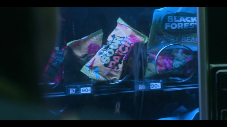 Sour Patch Kids Soft Candy and Black Forest Swirly Gummy Bears in Teenage Bounty Hunters S01E10