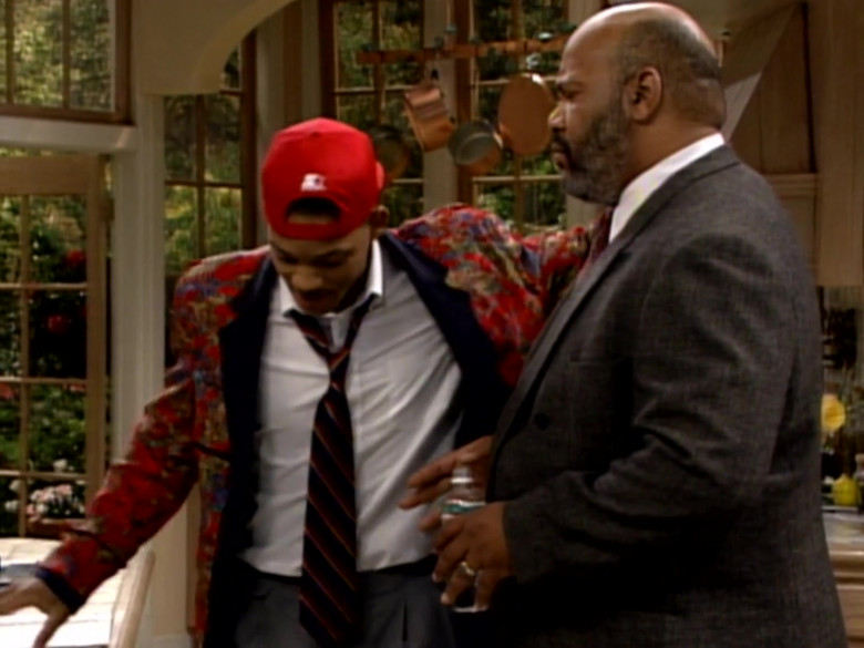 Starter Red Cap, Printed Jacket and White Shirt Outfit Worn by Will Smith (1)