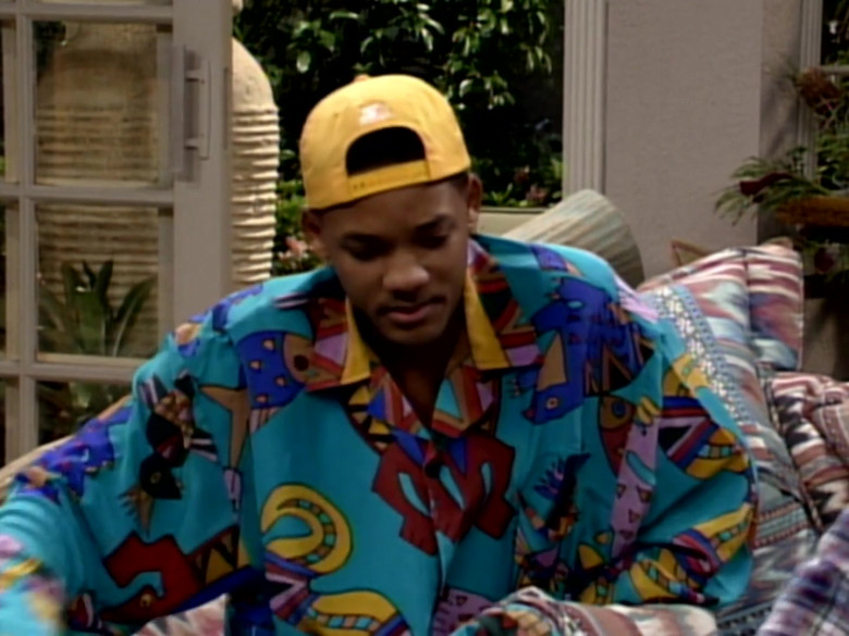 Starter Yellow Cap and Printed Fashion Shirt of Will Smith in The Fresh Prince of Bel-Air S03E12