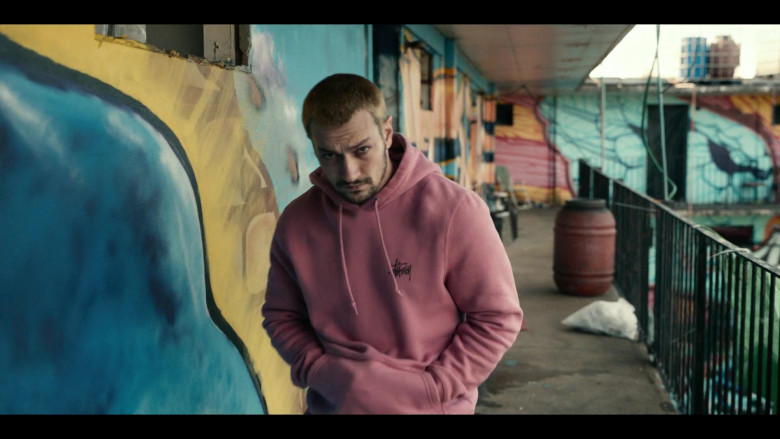 Stüssy Pink Basic Hoodie Men's Outfit in Project Power (2)