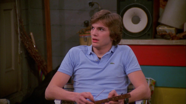 That '70s Show Outfits – Lacoste Polo Blue Shirt Worn by Ashton Kutcher as Michael Kelso (3)