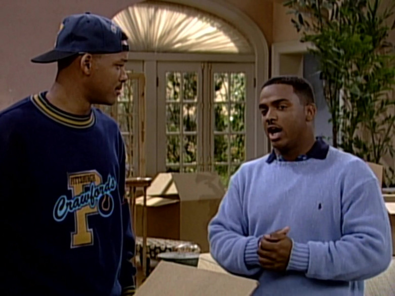 The Fresh Prince of Bel-Air Outfits and Fashion – Ralph Lauren Blue Sweater of Alfonso Ribeiro (1)