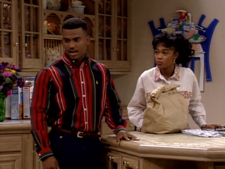 The Fresh Prince of Bel-Air S03E19 Outfit – Ralph Lauren Long Sleeved Shirt Worn by Alfonso Ribeiro as Carlton Banks