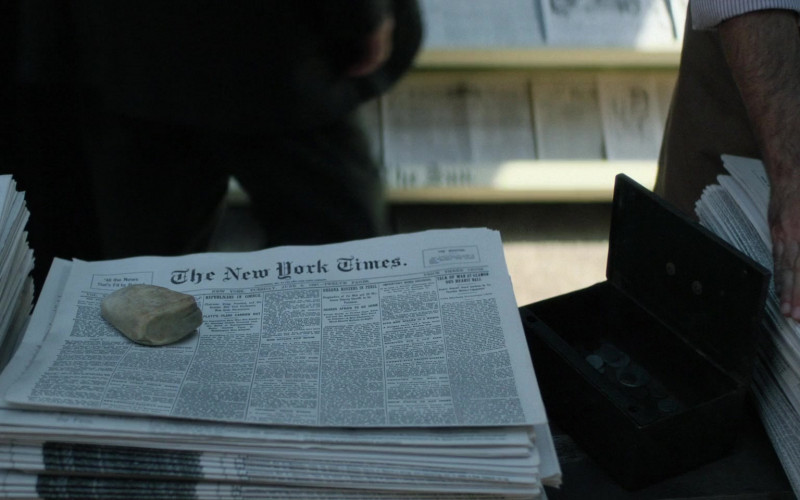 The New York Times Newspapers in The Alienist S02E05