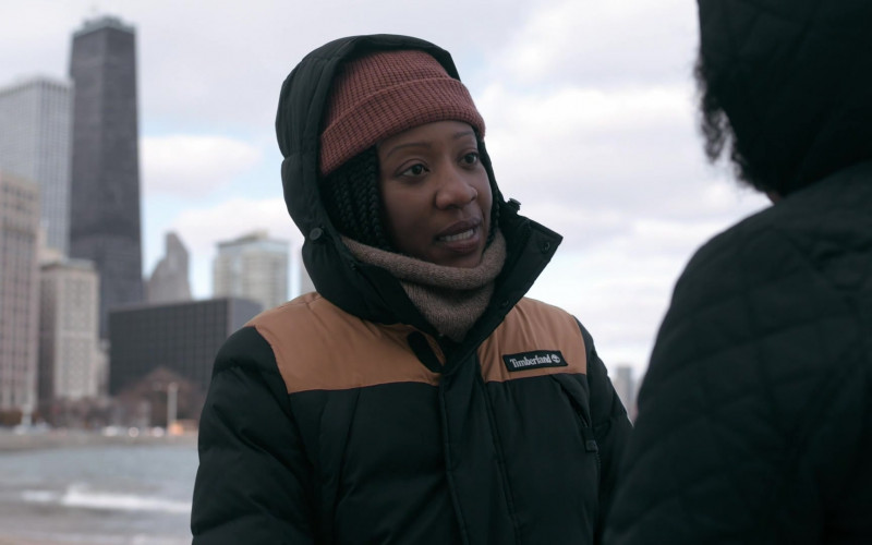Timberland Puffer Jacket in The Chi S03E09 (3)