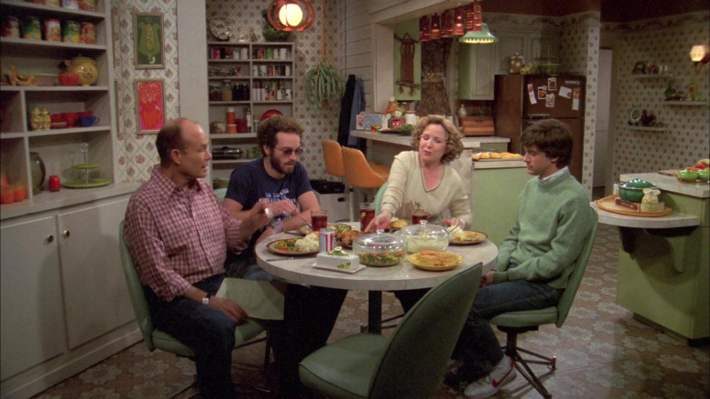 Topher Grace as Eric Wears Nike Shoes, Green Sweater and Jeans Outfit in That '70s Show
