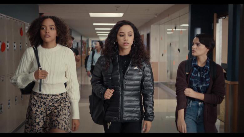 Trinkets S02E04 Outfits – Adidas Puffer Jacket of Kiana Madeira as Moe Truax (2)