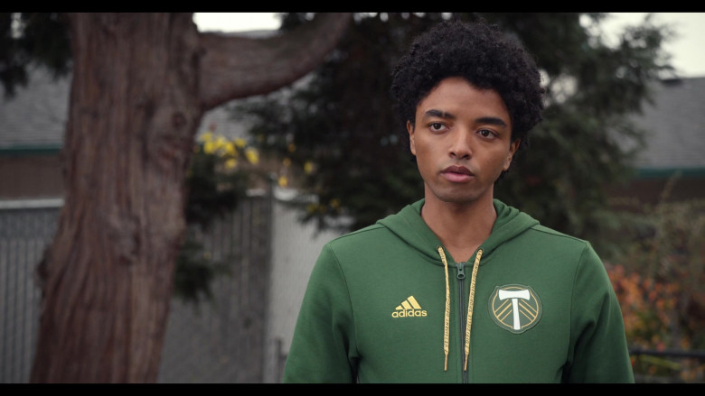 Trinkets S02E05 Outfits – Adidas Portland Timbers Soccer Club Green Hoodie Worn by Odiseas Georgiadis as Noah Simos