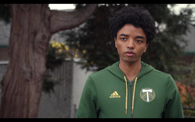 Trinkets S02E05 Outfits – Adidas Portland Timbers Soccer Club Green Hoodie Worn by Odiseas Georgiadis as Noah Simos