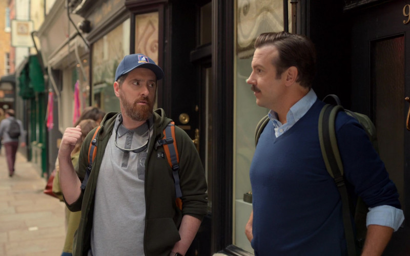 Under Armour Green Hoodie of Brendan Hunt as Coach Beard in Ted Lasso S01E02