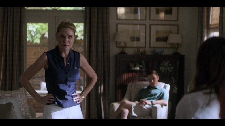 Virginia Williams as Debbie Wears Lacoste Sleeveless Blue Shirt Outfit in Teenage Bounty Hunters Season 1 TV Show (1)