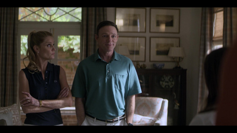 Virginia Williams as Debbie Wears Lacoste Sleeveless Blue Shirt Outfit in Teenage Bounty Hunters Season 1 TV Show by Netflix (2)