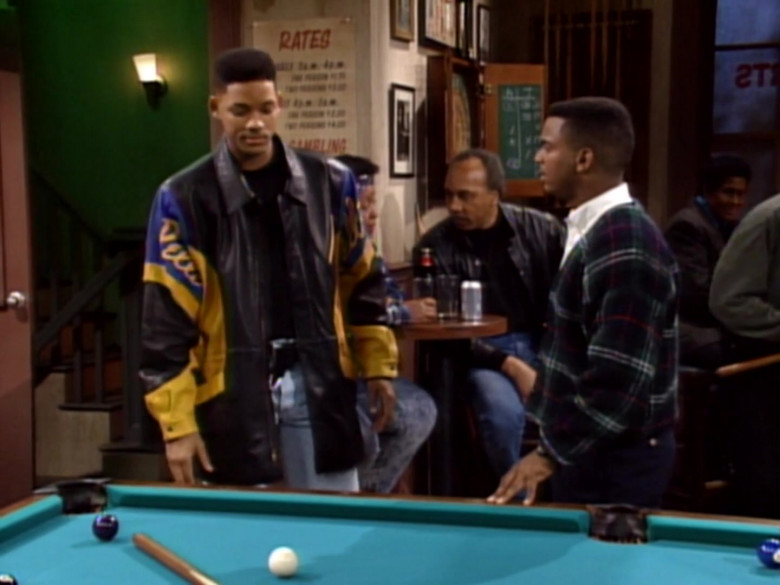 Will Smith Wears Pelle Pelle Black-Blue-Yellow Leather Jacket in The Fresh Prince of Bel-Air TV Series (1)