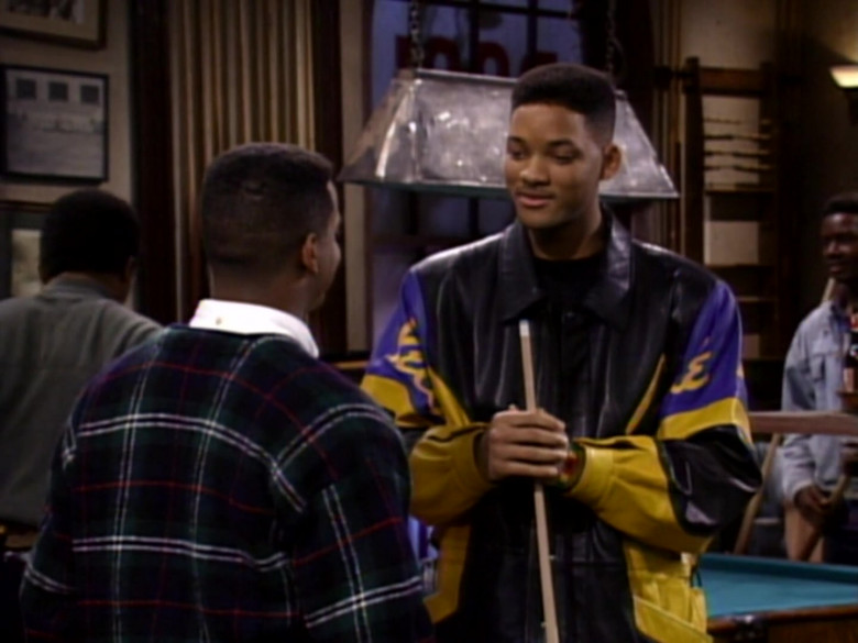 Will Smith Wears Pelle Pelle Black-Blue-Yellow Leather Jacket in The Fresh Prince of Bel-Air TV Series (5)