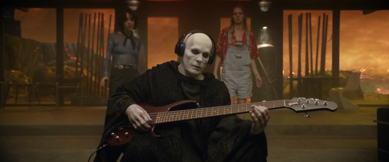 William Sadler as Grim Reaper The Personification of Death Using Gibson Guitar in Bill & Ted Face the Music