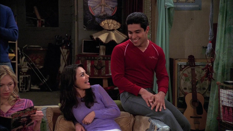 Wilmer Valderrama as Fez Wears Sergio Valente Red V-Neck Sweater Outfit in That '70s Show (1)