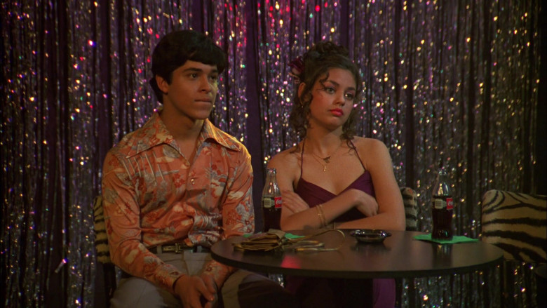 Wilmer Valderrama as Fez and Young Mila Kunis as Jackie Burkhart Coca-Cola Soda Drink