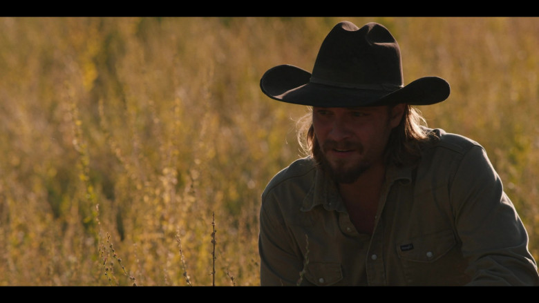 Wrangler Shirt Outfit of Luke Grimes in Yellowstone TV Show (1)