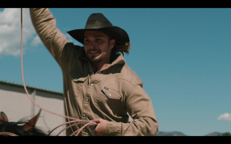 Wrangler Shirt Outfit of Luke Grimes in Yellowstone TV Show (2)