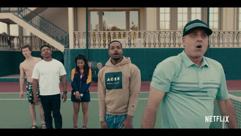 ACES Hustle & Heart Hoodie Outfit of Andrew Bachelor (King Bach) as Bobby in Sneakerheads Season 1 TV Show