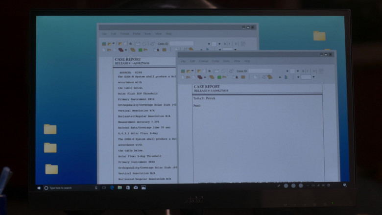 AOC Monitor Used by Shane Johnson as Cooper Saxe in Power Book II Ghost S01E01 (2)