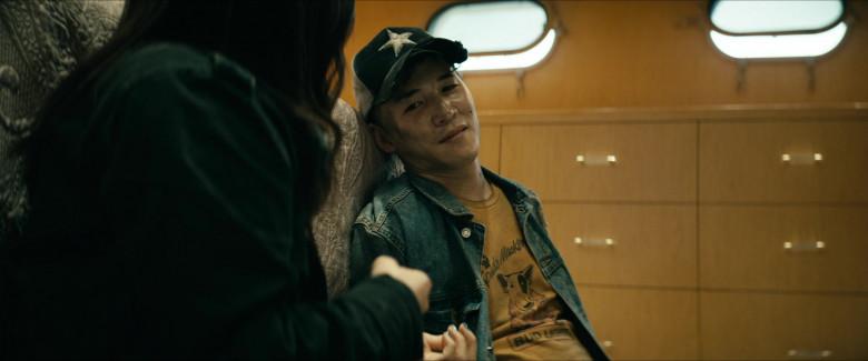 Abraham Lim as Kenji Miyashiro Wears Bud Light 'Spuds MacKenzie' Logo T-Shirt in The Boys Season 2 TV Show