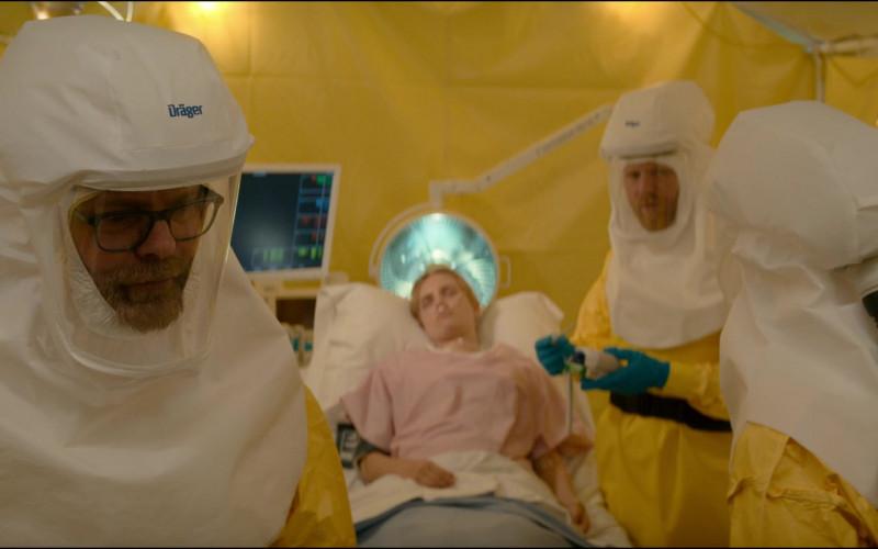 Actors Wear Dräger protection equipment in Utopia S01E04 TV Show (1)