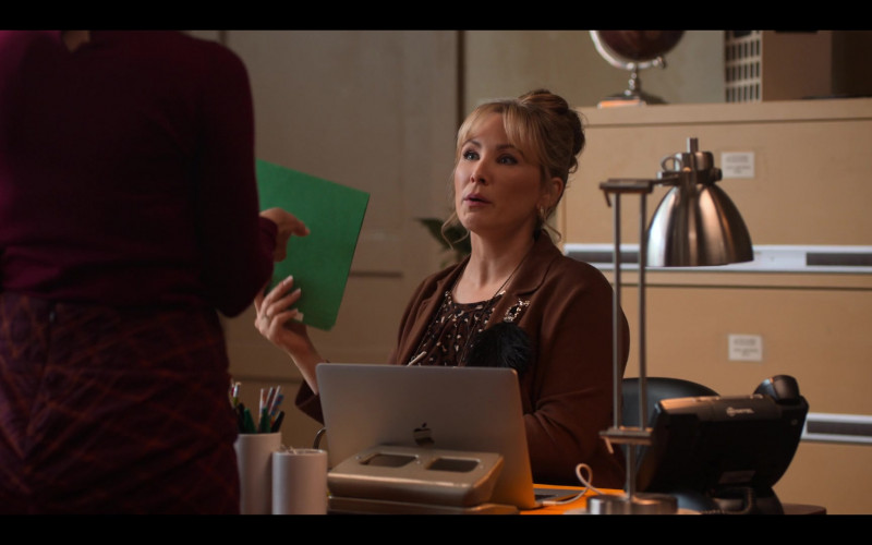 Actress Lisa Durupt Using Apple MacBook Laptop in Love, Guaranteed (2020) Movie by Netflix