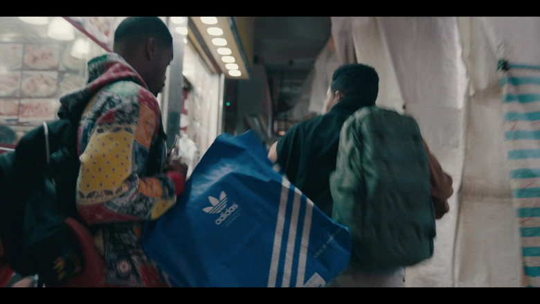 Adidas Blue Bag of Andrew Bachelor as Bobby in Sneakerheads S01E04