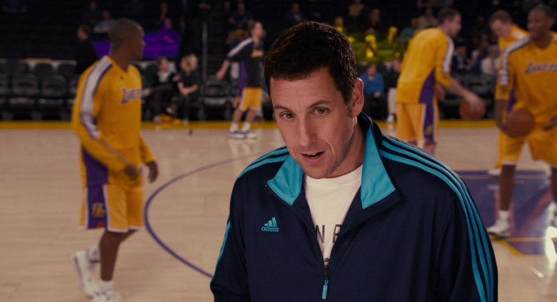 Adidas Blue Tracksuit Jacket Outfit of Adam Sandler as Jack in Jack and Jill Movie (3)