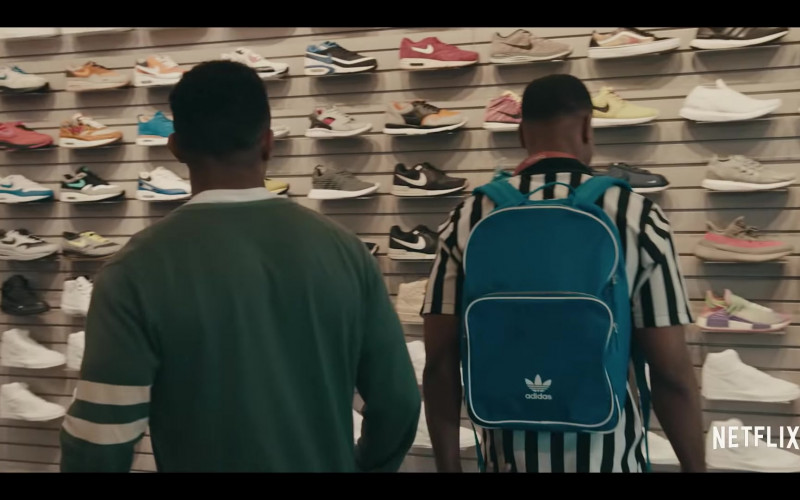 Adidas Originals Santiago Backpack of Andrew Bachelor (King Bach) as Bobby in Sneakerheads Season 1 (2020)