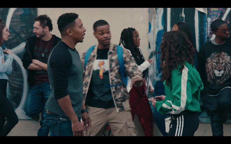 Adidas Pants of Jearnest Corchado as Nori in Sneakerheads S01E02 Hustling Backwards (2020)