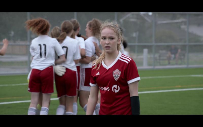 Adidas Red T-Shirt of Talitha Bateman as Alexis 'Lex' Logan in Away S01E01