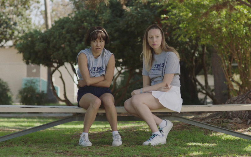 Adidas Shoes of Maya Erskine and Anna Konkle in PEN15 S02E01 TV Show