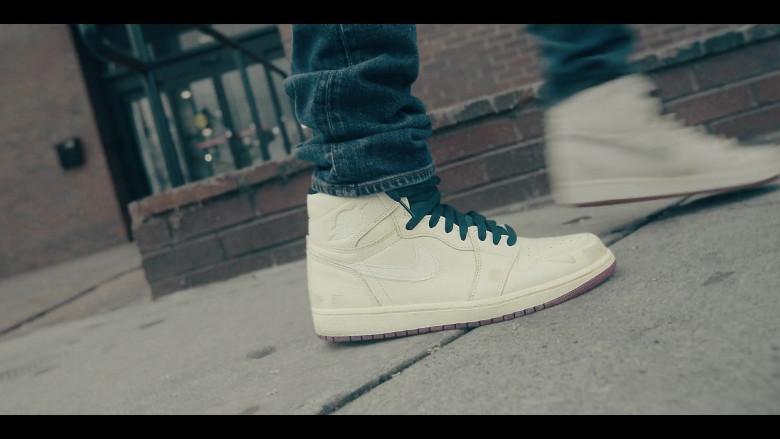 Air Jordan 1 All-White Sneakers by Nike in Sneakerheads S01E01