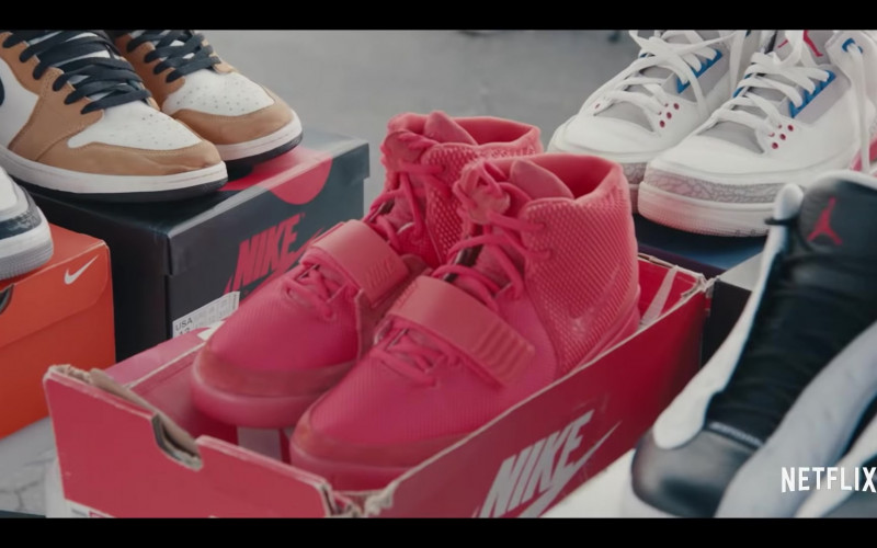 Air Jordan 1 Mid Shoes, Air Yeezy 2 Red October, Air Jordan 3, Air Jordan 13 Retro Sneakers in Sneakerheads Season 1 (2