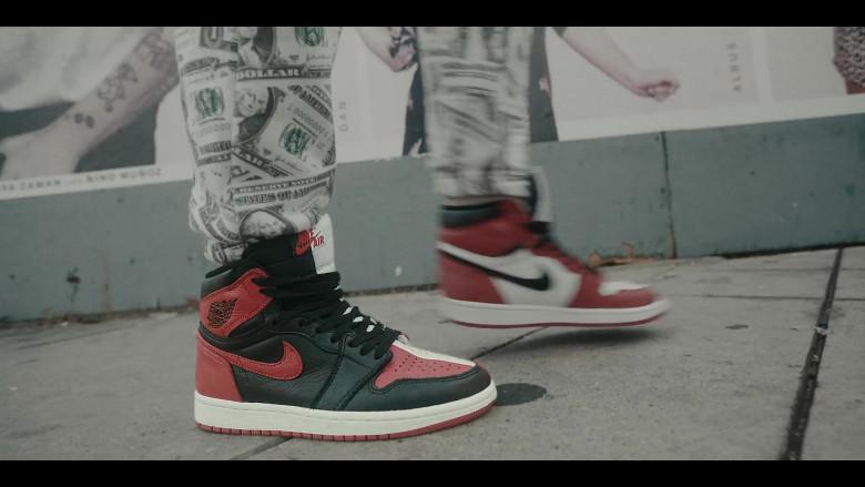 Air Jordan 1 Red-White-Black Retro High Sneakers by Nike in Sneakerheads S01E01 101 (2020)