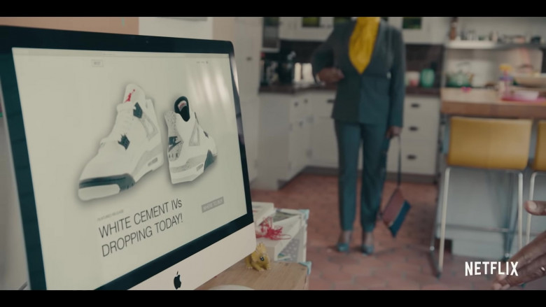 Air Jordan 4 Retro 'White Cement Grey' Sneakers and Apple iMac in Sneakerheads Season 1 (2020)